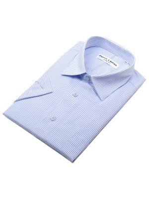 Рубашка Pierre Lauren. Цвет: голубой, белый