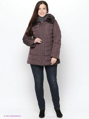 Куртка Vlasta. Цвет: темно-коричневый