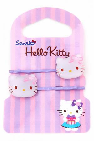 Заколка-невидимка Hello Kitty. Цвет: сиреневый
