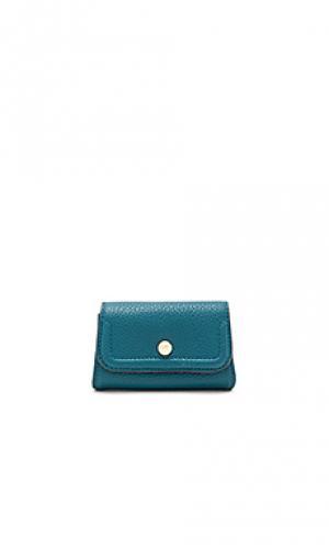 Кейс для кредитных карт mia Annabel Ingall. Цвет: сине-зеленый