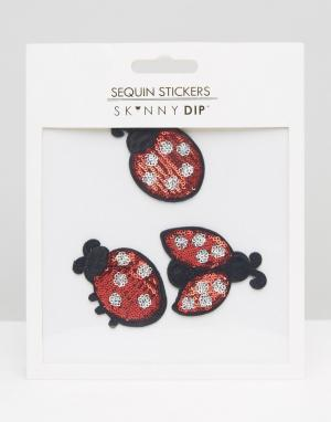 Skinnydip Нашивки в виде божьих коровок с отделкой пайетками. Цвет: мульти