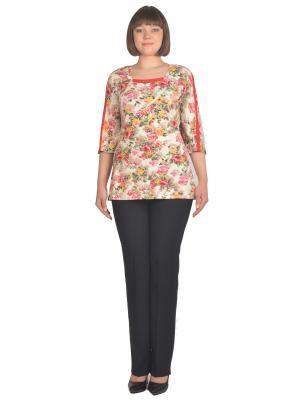 Блузка Томилочка Мода ТМ. Цвет: светло-коралловый