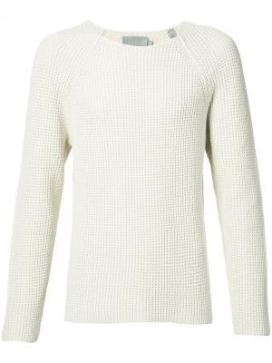 Вязаный свитер Vince. Цвет: белый