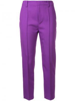 Укороченные строгие брюки Le Ciel Bleu. Цвет: розовый и фиолетовый