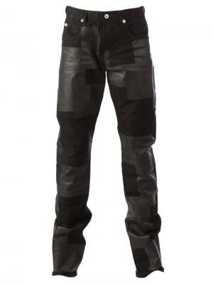 Лоскутные джинсы Kohzo. Цвет: чёрный