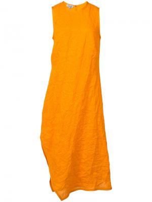 Asymmetric textured dress Narciso Rodriguez. Цвет: жёлтый и оранжевый