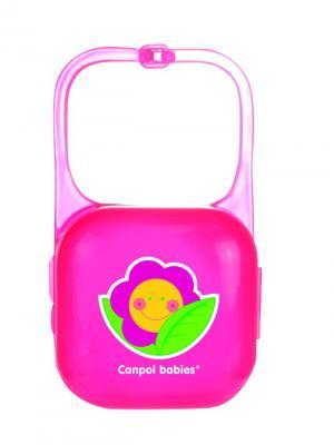 Контейнер для пустышки, цвет: розовый Canpol babies. Цвет: розовый