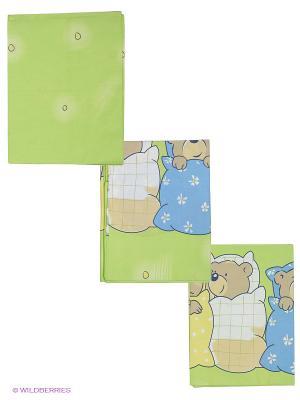 Комплект Лежебоки Сонный гномик. Цвет: зеленый