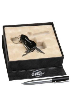 Набор: брелок, ручка Mr.Forsage. Цвет: черный