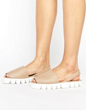 Park Lane Кожаные сандалии. Цвет: бежевый