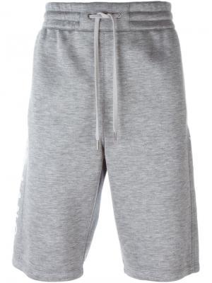 Side logo track shorts Helmut Lang. Цвет: серый