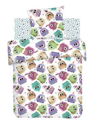 Постельное белье Angry Birds.. Цвет: белый
