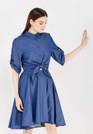 Платье джинсовое Tutto Bene. Цвет: синий