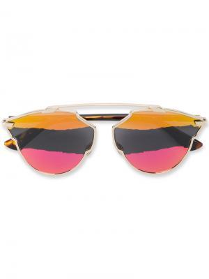 Солнцезащитные очки с разноцветными стеклами Dior Eyewear. Цвет: коричневый
