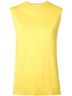 Трикотажный топ Enföld. Цвет: жёлтый и оранжевый