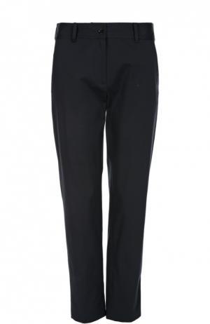Прямые хлопковые брюки Gerard Darel. Цвет: темно-синий