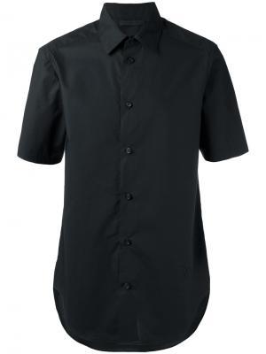 Классическая рубашка с короткими рукавами Alexander Wang. Цвет: чёрный