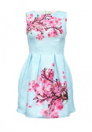 Платье Taya. Цвет: голубой