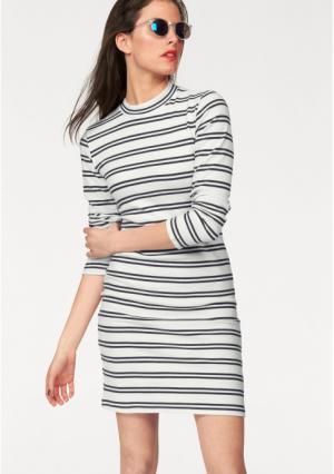 Платье Aniston. Цвет: цвет белой шерсти/темно-синий