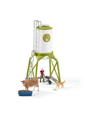 Набор корма с животными SCHLEICH. Цвет: зеленый, белый