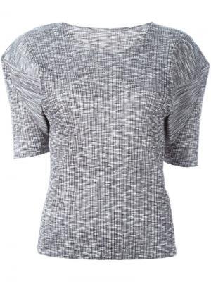 Гофрированная футболка Pleats Please By Issey Miyake Vintage. Цвет: серый