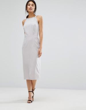 Alter Платье-сарафан миди. Цвет: серый