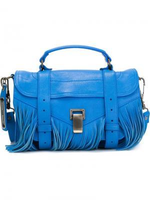 Маленькая сумка-сэтчел PS1 Proenza Schouler. Цвет: синий