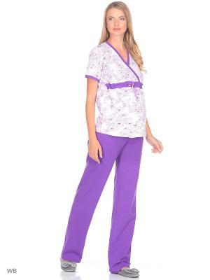 Пижама Nuova Vita. Цвет: лиловый, фиолетовый