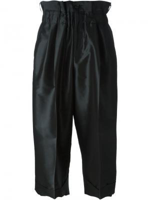 Укороченные брюки со складками Comme Des Garçons. Цвет: чёрный