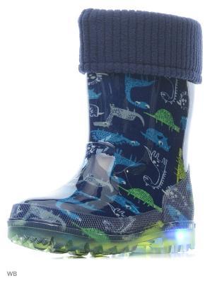 Резиновые сапоги Kapika. Цвет: зеленый, синий