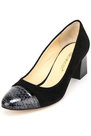 Туфли Corta Mussi. Цвет: черный, синий, замша