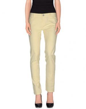 Повседневные брюки E-GÓ. Цвет: светло-желтый
