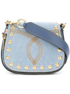 Джинсовая сумка Nomad через плечо Marc Jacobs. Цвет: синий