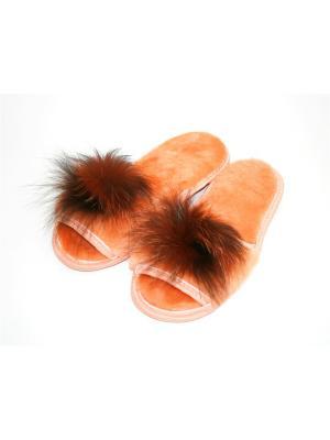 Туфли комнатные - тапочки Тефия. Цвет: оранжевый