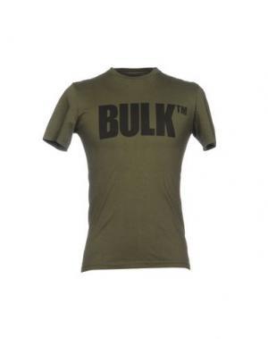 Футболка BULK. Цвет: зеленый-милитари