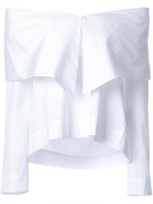 Блузка с открытыми плечами Isa Arfen. Цвет: белый