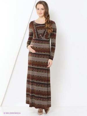 Платье One plus. Цвет: коричневый
