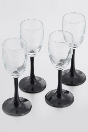 Набор бокалов, 4 шт Pasabahce. Цвет: черный