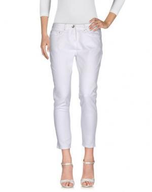 Джинсовые брюки NOVEMB3R. Цвет: белый