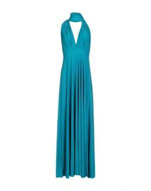 Длинное платье VON VONNI. Цвет: лазурный
