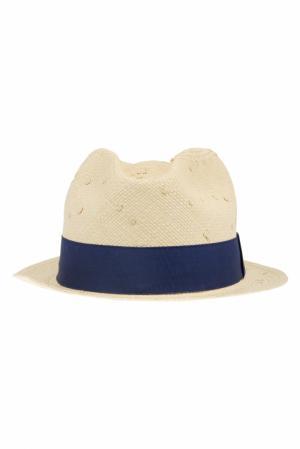 Соломенная шляпа Urbano Natural Knots Artesano. Цвет: кремовый, синий