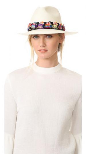 Шляпа Maia Valdez. Цвет: белый