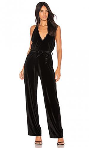 Пляжный костюм с широкими брюками walk away WYLDR. Цвет: черный