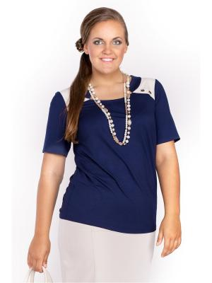 Блузка Lady Sharm Classic. Цвет: синий