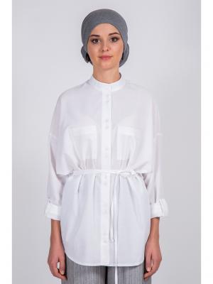 Блузка Bella kareema. Цвет: белый