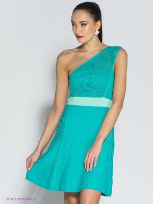 Платье Eunishop. Цвет: бирюзовый