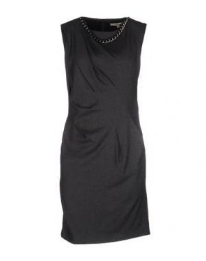Короткое платье KORALLINE. Цвет: стальной серый