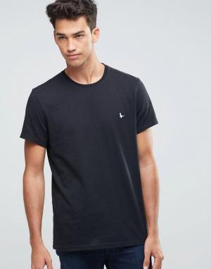 Jack Wills Черная футболка классического кроя. Цвет: черный