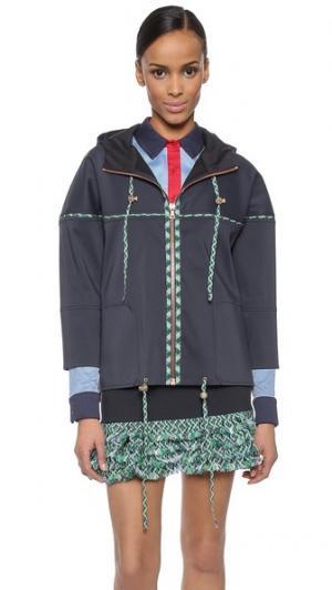 Куртка с капюшоном CG. Цвет: темно-синий
