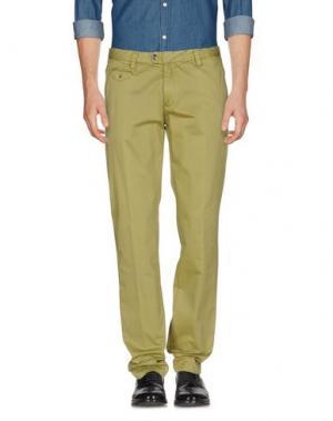 Повседневные брюки YES ZEE by ESSENZA. Цвет: кислотно-зеленый